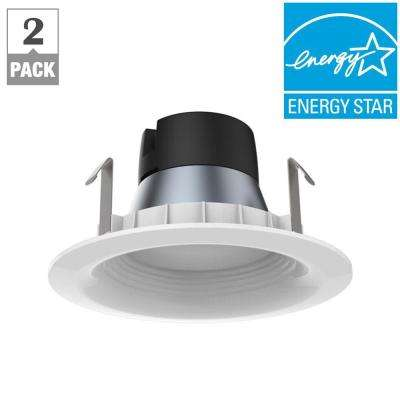 65W Equivalent Daylight GU24 BR20 Dimmable Downlight LED Light Bulb (2-Pack)