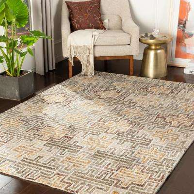 Talan Brown 2 ft. x 3 ft. Geometric Area Rug