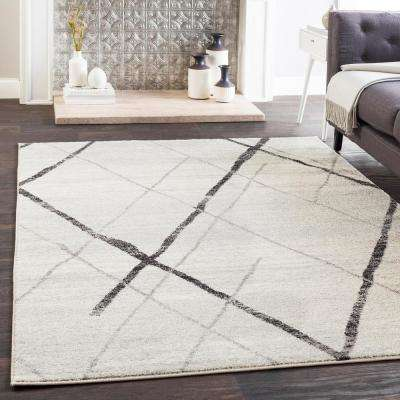 Laurine Black/White 8 ft. x 10 ft. Area Rug
