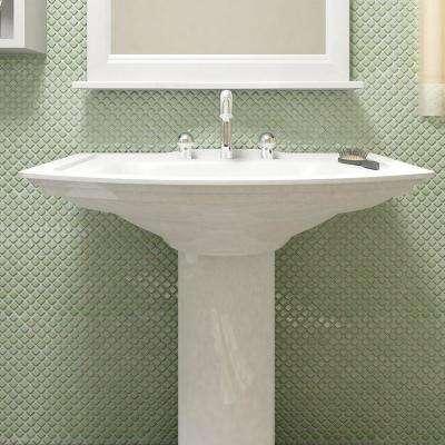 Hudson Diamond Light Green 12-3/8 in. x 12-3/8 in. x 5 mm Porcelain Mosaic Tile