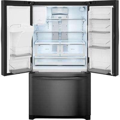 21.9 cu. ft. French Door Refrigerator in Black Stainless Steel, Counter Depth