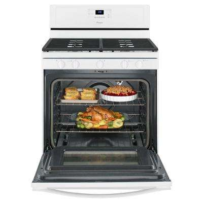 5.0 cu. ft. Gas Range with Self-Cleaning Convection Oven in White