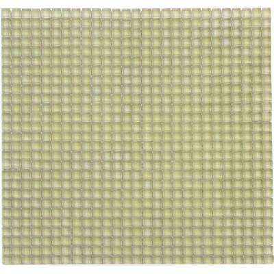 Atlantis Moray Frosted Yellow 11-3/4 in. x 11-3/4 in. x 6 mm Glass Mosaic Tile (9.58 sq. ft. / case)