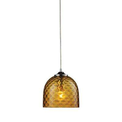 Viva 1-Light Satin Nickel Ceiling Pendant