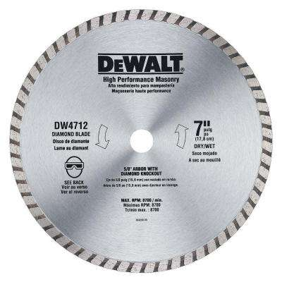 7 in. High Performance Diamond Masonry Blade