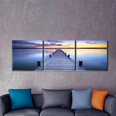"20 in. x 60 in. ""Pier Sunrise"" Printed Acrylic Wall Art"