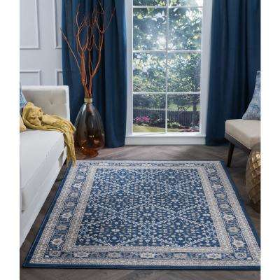 Madison Navy 9 ft. x 13 ft. Area Rug