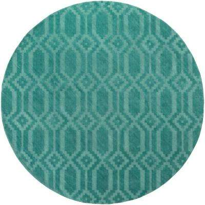 Metro Scout Teal 7 ft. 9 in. x 7 ft. 9 in. Round Indoor Area Rug