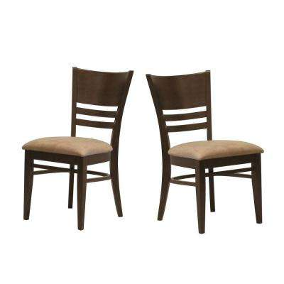 Side Chair in Espresso (Set of 2)