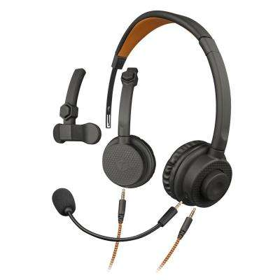 Wired Convertible Headset with Boom Mic and Gaming Connectors