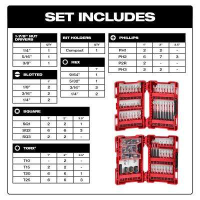 SHOCKWAVE Impact-Duty Alloy Steel Drill and Driver Bit Set (100-Piece)