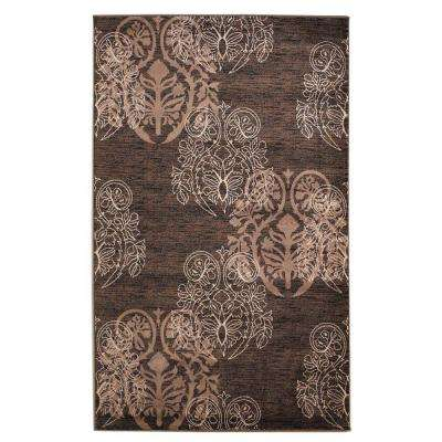 Milan Collection Brown and Beige 5 ft. x 7 ft. 7 in. Indoor Area Rug