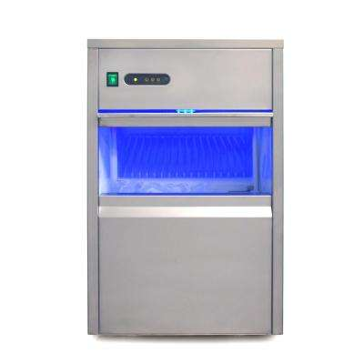 110 lb. Freestanding Automatic Ice Maker in Stainless Steel