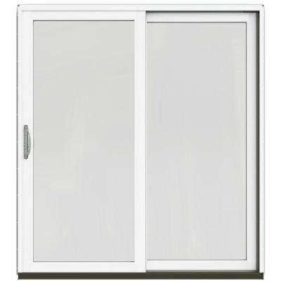71-1/4 in. x 79-1/2 in. W-2500 Brilliant White Right-Hand Clad-Wood Sliding Patio Door with Brilliant White Interior