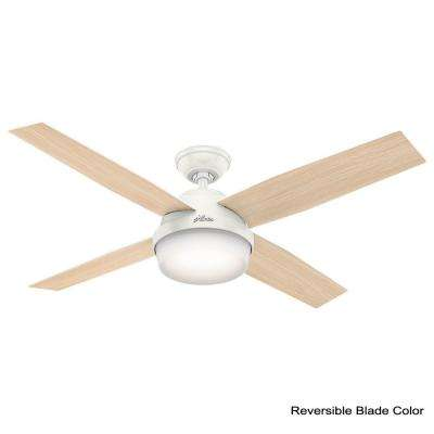 Dempsey 52 in. LED Indoor/Outdoor Fresh White Ceiling Fan with Light Kit