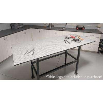 30 in. x 72 in. Compact Laminate Countertop/Worktop in Zinc Diamond Plate