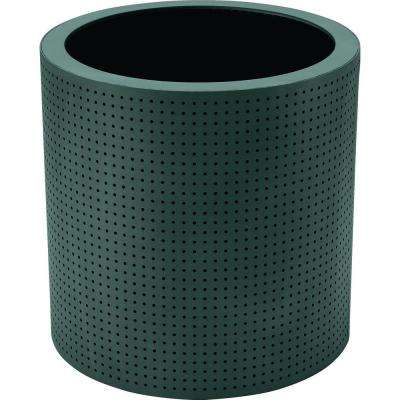 Grand Isle 24 in. Round Hunter Metal Perforated Contract Planter