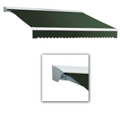 8 ft. LX-Destin with Hood Left Motor/Remote Retractable Acrylic Awning (84 in. Projection) in Olive or Alpine