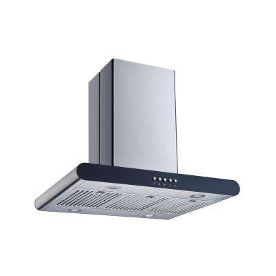 30 in. Convertible Island Mount Range Hood in Stainless Steel with Stainless Steel Baffle Filters and Push Buttons