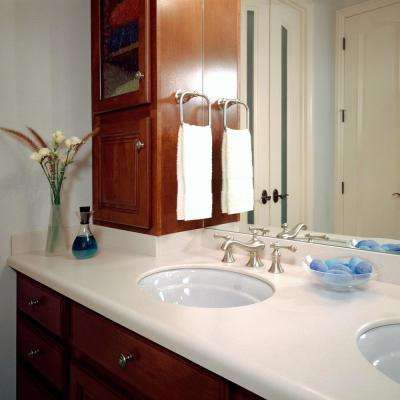 2 in. x 2 in. Solid Surface Countertop Sample in Whisper