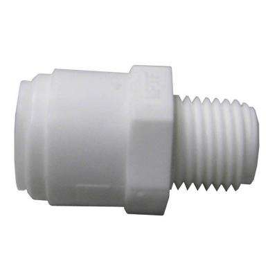 Quick Connect 3/8 in. x 1/4 in. White Plastic C x MIP Adapter