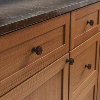 Floating 1-3/16 in. (30 mm) Cocoa Bronze Cabinet Knob