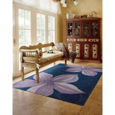 Contours Blue 7 ft. x 9 ft. Area Rug