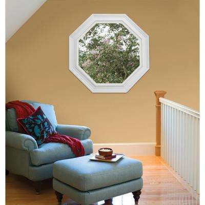 23.5 in. x 23.5 in. V-2500 Series Desert Sand Vinyl Fixed Octagon Geometric Window w/ Low-E 366 Glass
