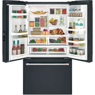 23.1 cu. ft. French Door Refrigerator in Matte Black, Counter Depth and Fingerprint Resistant