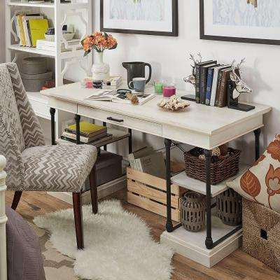Manor Drive Writing Desk in White Wash