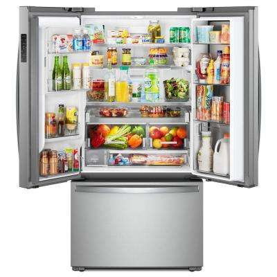24 cu. ft. Smart French Door Refrigerator in Fingerprint Resistant Stainless Steel, Counter Depth