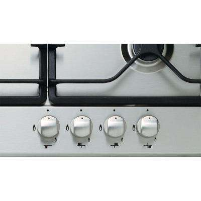 24 in. Gas Cooktop in Stainless Steel with 4 Burners