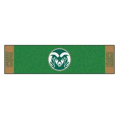 NCAA Colorado State University 1 ft. 6 in. x 6 ft. Indoor 1-Hole Golf Practice Putting Green