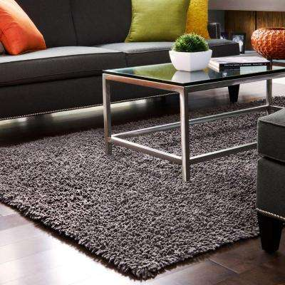 Graphite Silky Shag 9 ft. x 12 ft. Area Rug