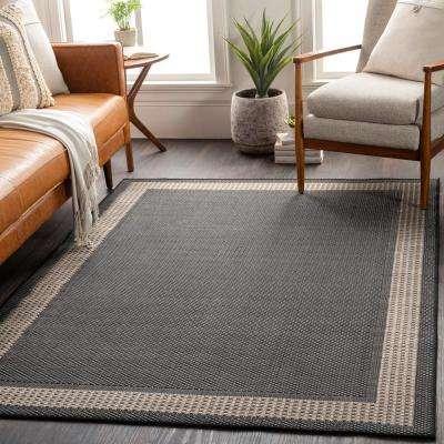 Keti Black 2 ft. x 3 ft. Border Indoor/Outdoor Area Rug