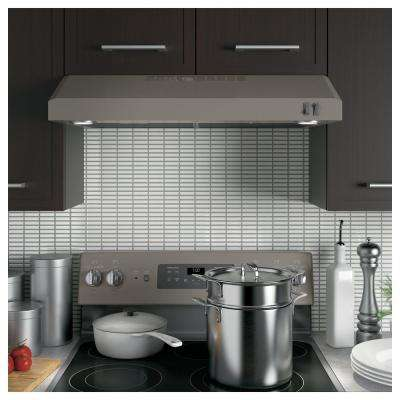 30 in. Under Cabinet Convertible Range Hood with Light in Slate, Fingerprint Resistant