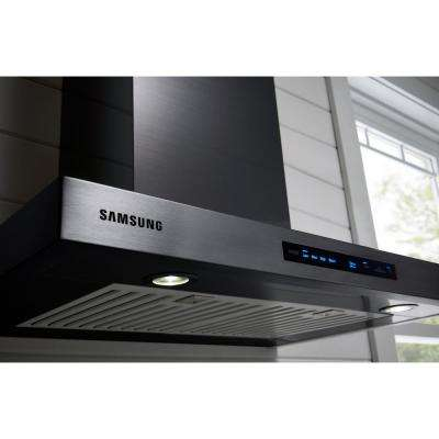 30 in. Wall Mount Exterior Venting Range Hood in Black Stainless Steel with Wi-Fi