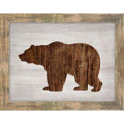 "19 in. x 24 in. ""Wood Wildlife IV"" by Isabella Burton Framed Gallery Wrapped Canvas Wall Art"