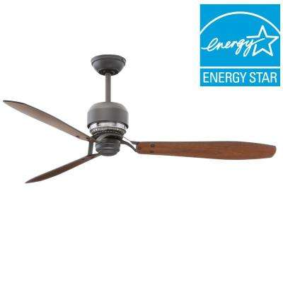 Tribeca 60 in. Graphite Ceiling Fan with 4-Speed Wall Mount Control