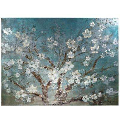"36 in. x 47 in. ""Almond Joy"" Printed Canvas Wall Art"