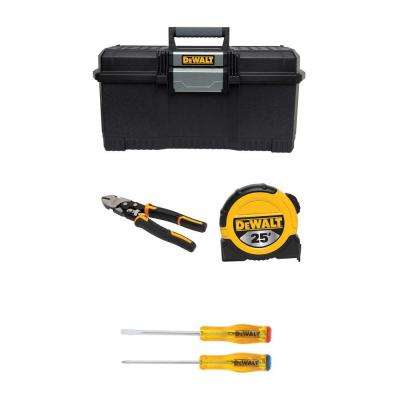 Hand Tool Combo Kit with Tool Box (5-Piece)