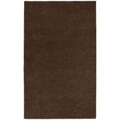 Washable Room Size Bathroom Carpet Chocolate 5 ft. x 8 ft. Area Rug