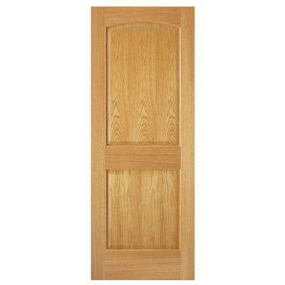 2-Panel Arch Solid Core Oak Interior Door Slab