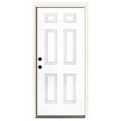 Premium 6 Panel Primed Steel Prehung Front Door