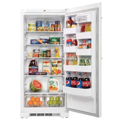 30 in. W 17.0 cu. ft. Freezerless Refrigerator in White, Counter Depth