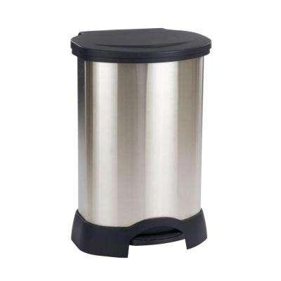 Rubbermaid Commercial Products 30 Gal. Black/Stainless Steel Step-On Trash Can