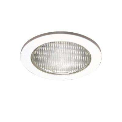 4 in. White Recessed Lighting with Lensed Shower Trim