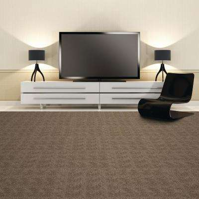Peel and Stick First Impressions Oatmeal Hobnail Texture 24 in. x 24 in. Commercial Carpet Tile (15 Tiles/Case)