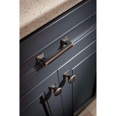 Southampton 1-1/4 in. (32mm) Bronze with Copper Highlights Square Base Round Cabinet Knob