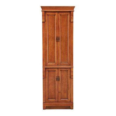 Naples 24 in. W Linen Cabinet in Warm Cinnamon